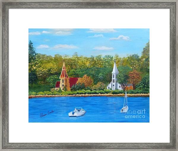 Autumn In Nova Scotia Framed Print