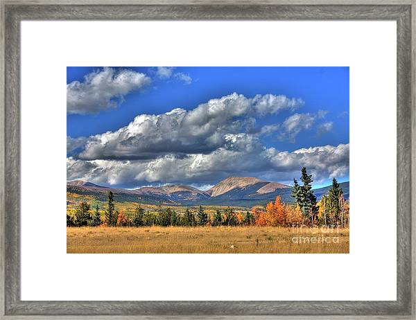 Autumn In The Rockies Framed Print