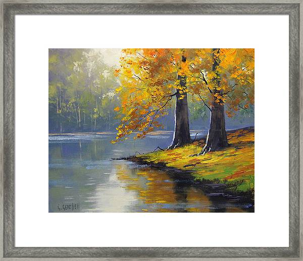 Autumn Lake Print Framed Print