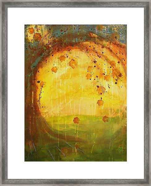 Autumn Leaves - Tree Series Framed Print