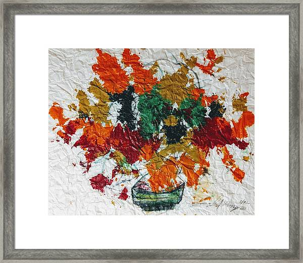 Autumn Leaves Plant Framed Print