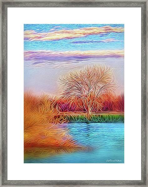 Autumn Light Realization Framed Print