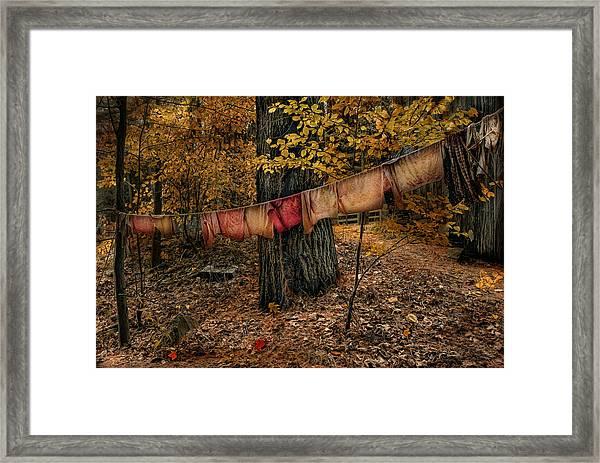 Autumn Linens Framed Print