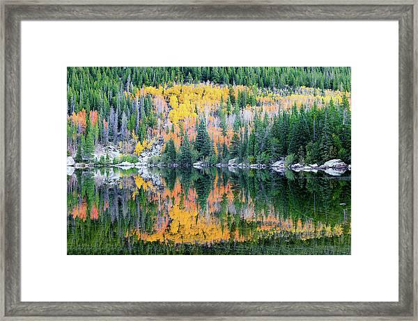 Autumn Mirror At Bear Lake Framed Print