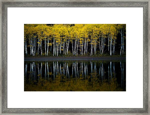 Framed Print featuring the photograph Autumn Mirror by Dustin  LeFevre
