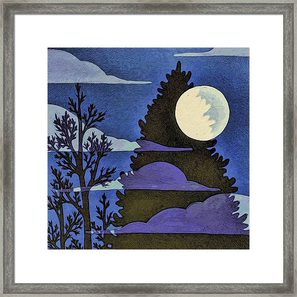 Autumn Moon Framed Print