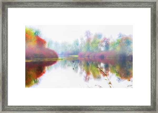 Framed Print featuring the photograph Autumn Morning Dream by Dee Browning