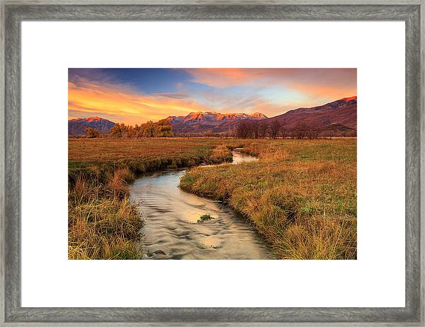 Autumn Morning In Heber Valley. Framed Print