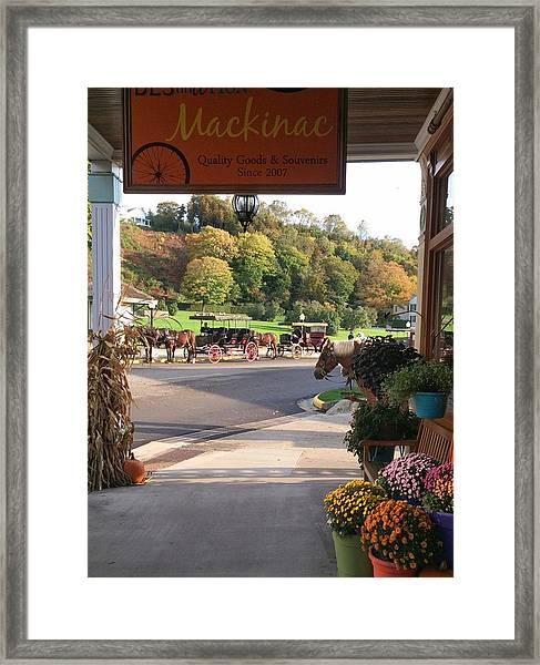 Autumn Morning On Mackinac Island Framed Print