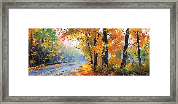 Autumn Mt Wilson Framed Print