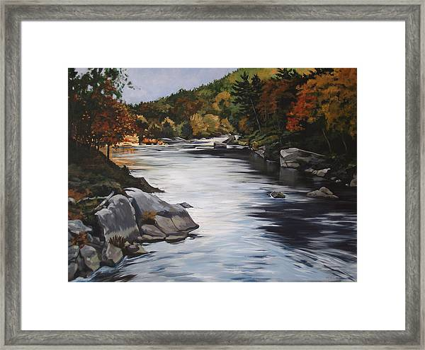Autumn On The Allegheny Framed Print
