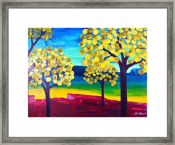 Autumn On The Ridge Framed Print by Ben Potter