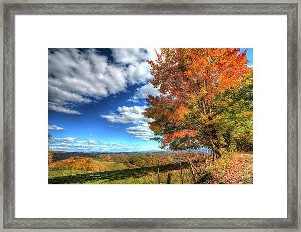 Autumn On The Windfall Framed Print
