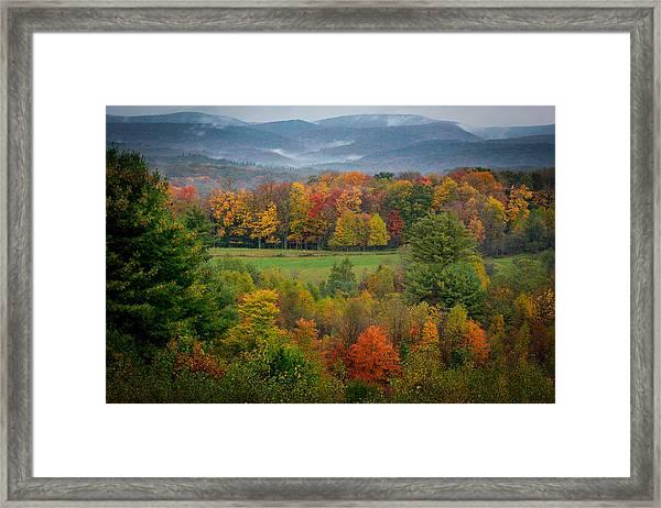 Autumn On Winslow Hill Framed Print