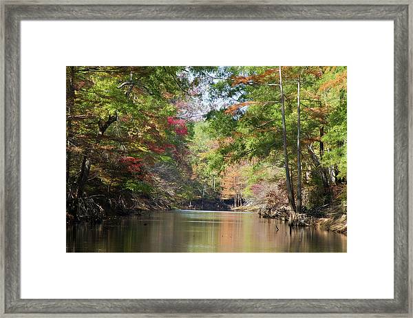 Autumn Over Golden Waters Framed Print