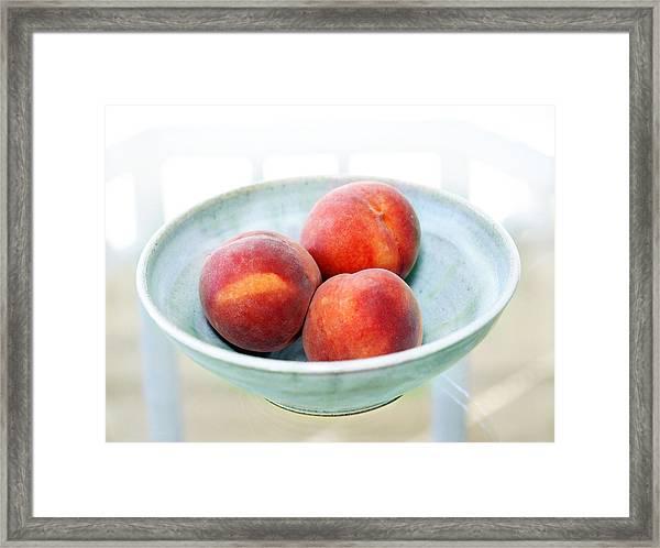 Autumn Peaches Framed Print