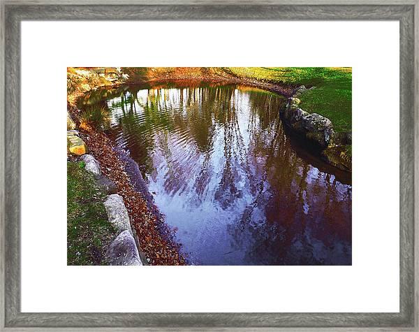 Autumn Reflection Pond Framed Print