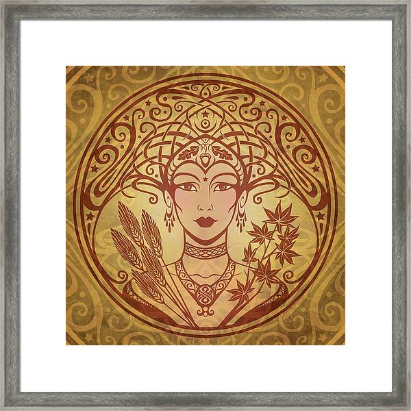 Autumn Queen Framed Print by Cristina McAllister