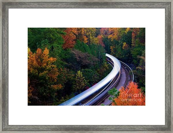 Autumn Rails Framed Print