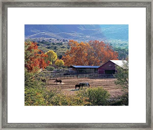 Autumn Ranch Framed Print
