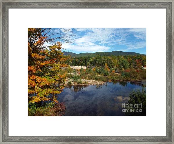 Framed Print featuring the photograph Autumn Reflection by Barbara Von Pagel