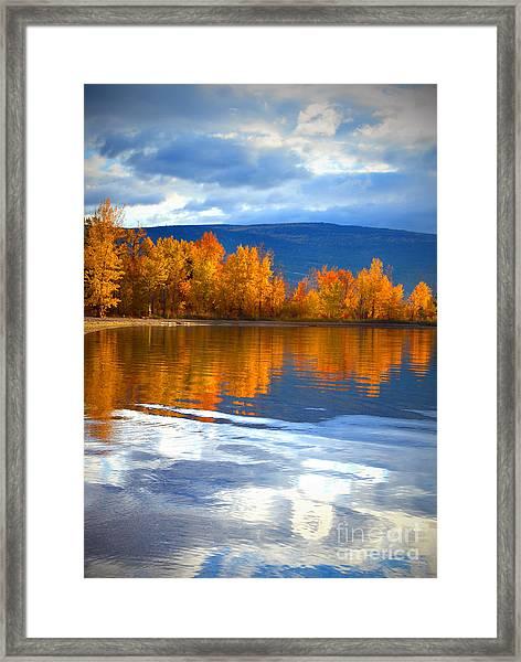 Autumn Reflections At Sunoka Framed Print