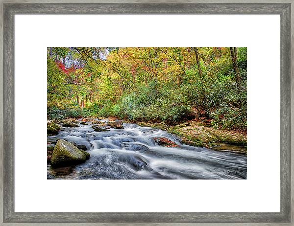 Framed Print featuring the photograph Autumn River by David A Lane