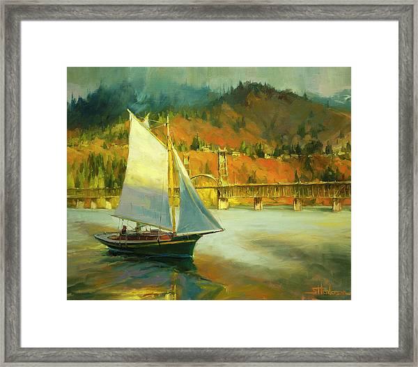 Autumn Sail Framed Print