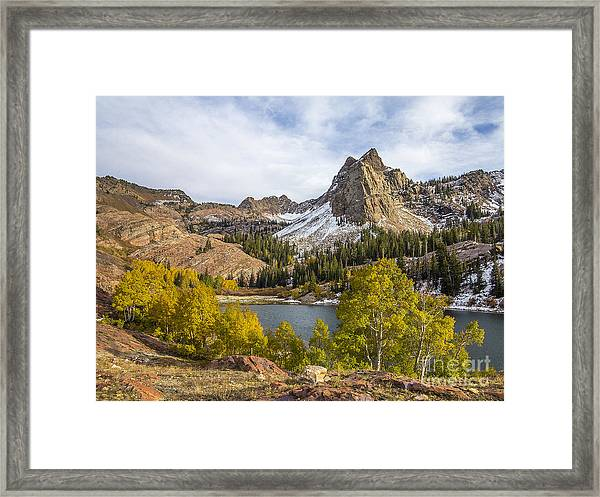 Autumn Snow At Lake Blanche Framed Print