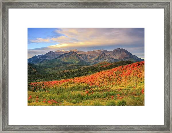 Autumn Splendor In The Wasatch Back. Framed Print by Johnny Adolphson