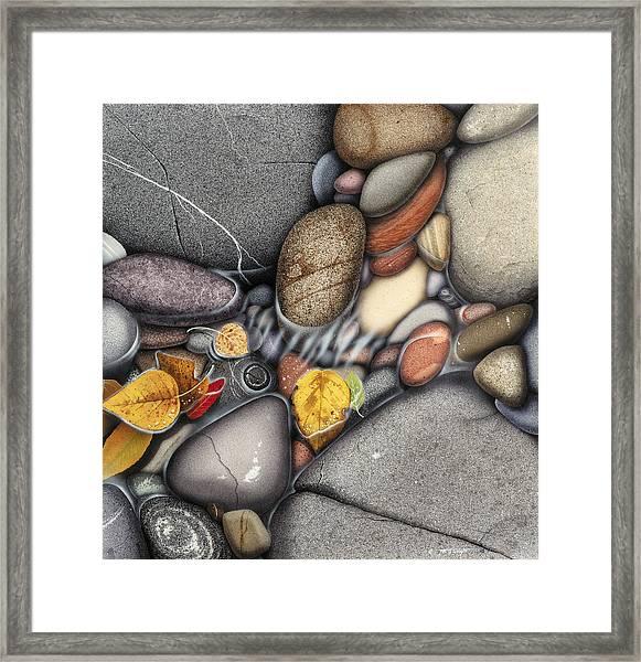 Autumn Stones Framed Print