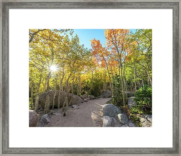 Autumn Sunrise Framed Print by Robert Yone
