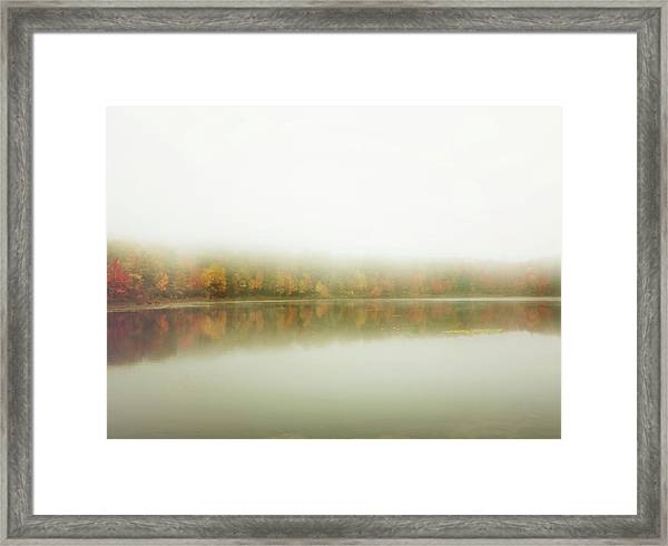 Autumn Symmetry Framed Print