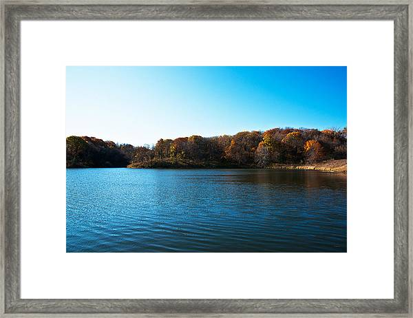 Autumn The In Loess Hills Framed Print