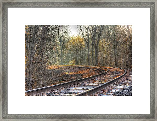 Autumn Tracks Framed Print