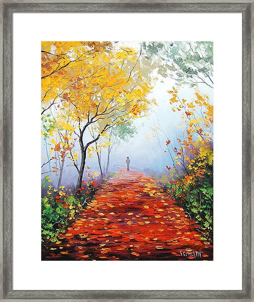 Autumn Trail Framed Print