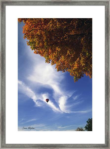 Autumn Traveler - Lake Geneva Wisconsin Framed Print