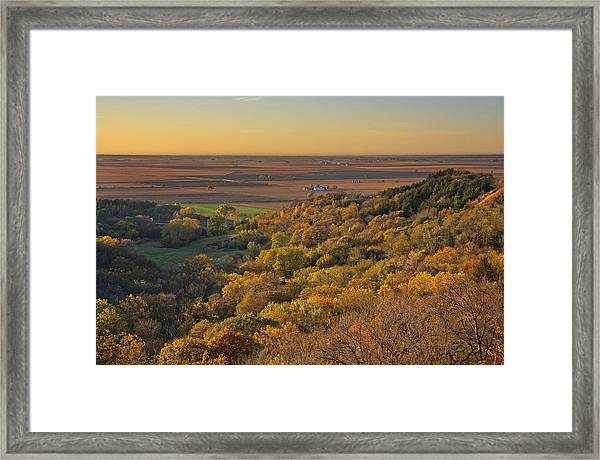 Autumn View At Waubonsie State Park Framed Print