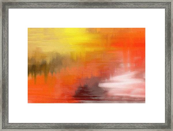 Autumnal Abstract  Framed Print