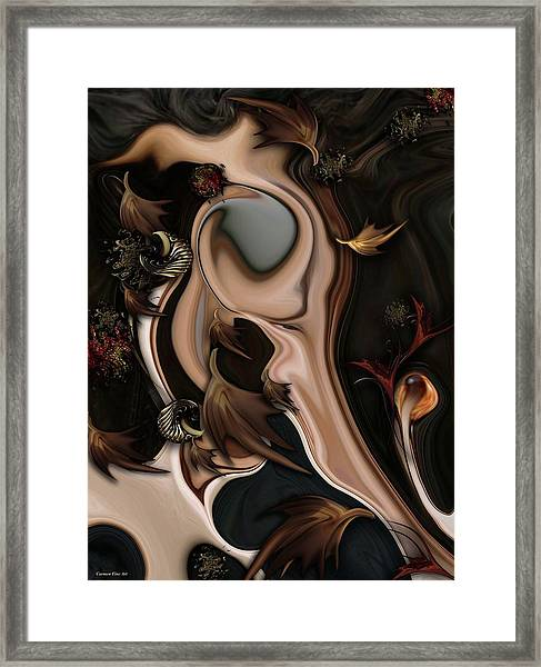 Autumnal Material Framed Print