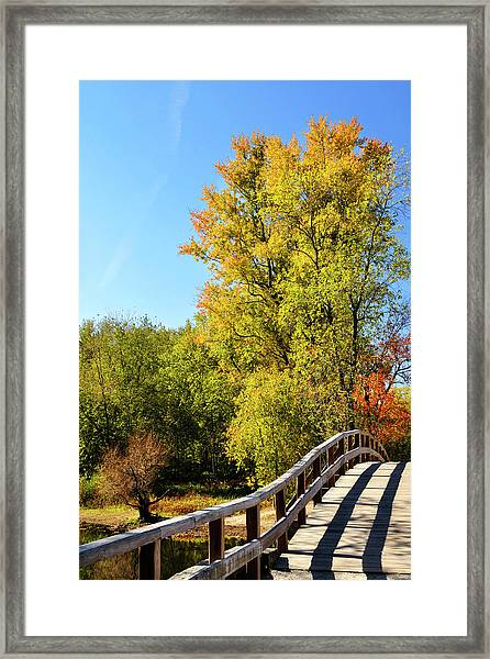Autumnal North Bridge Framed Print