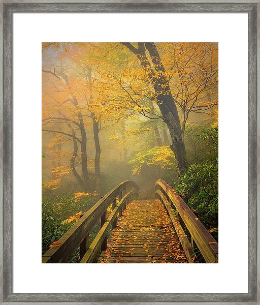 Autumn's Bridge To Heaven Framed Print