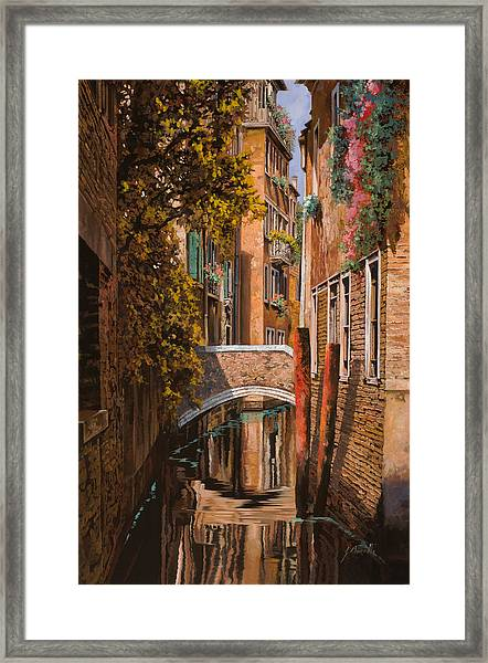 autunno a Venezia Framed Print