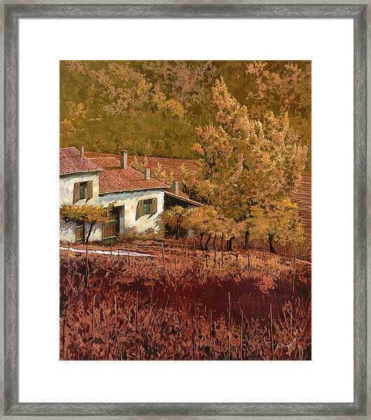 Autunno Rosso Framed Print
