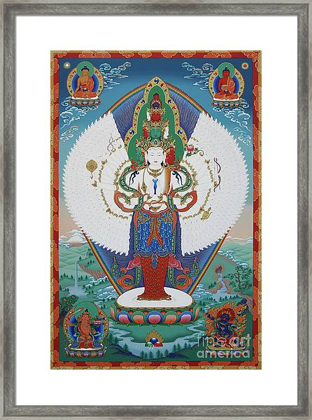 Avalokiteshvara Lord Of Compassion Framed Print