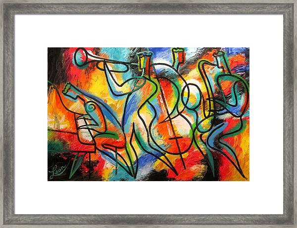 Avant-garde Jazz Framed Print