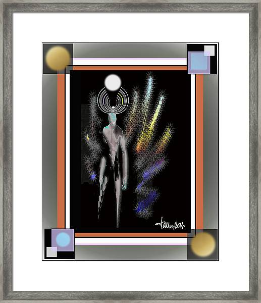 Framed Print featuring the digital art Avenging Angel by Larry Talley