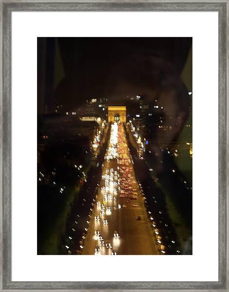 Avenue Des Champs D Elysees Framed Print
