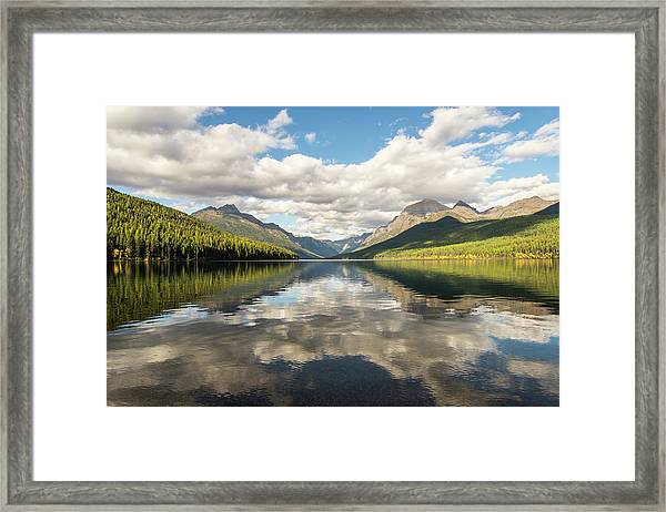 Avenue To The Mountains Framed Print