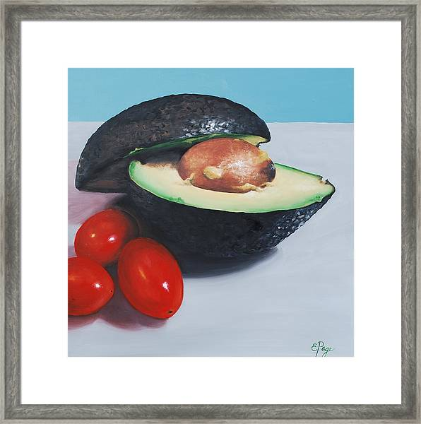 Avocado And Cherry Tomatoes Framed Print